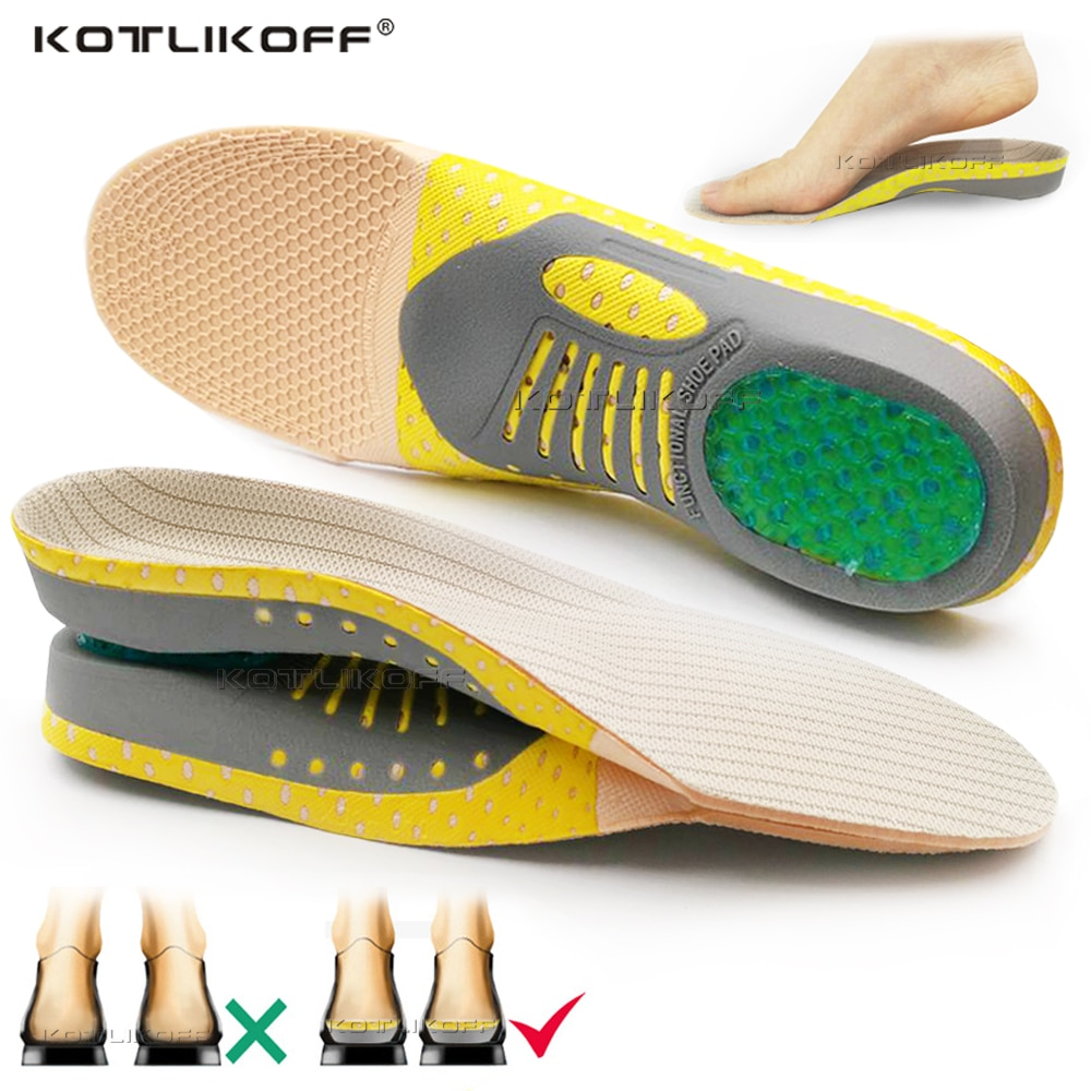 aliexpress.com - Orthopedic Insoles Flat Foot Arch Support Pad Running Sport Shoes Soles Insert Heel Pain For Plantar Fasciitis Orthotics Insoles