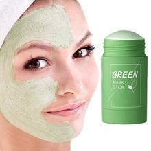 Oil Control Green Tea Mask Stick Eggplant Acne Deep Cleaning Mask Skin Care Moisturizing Remove Blac