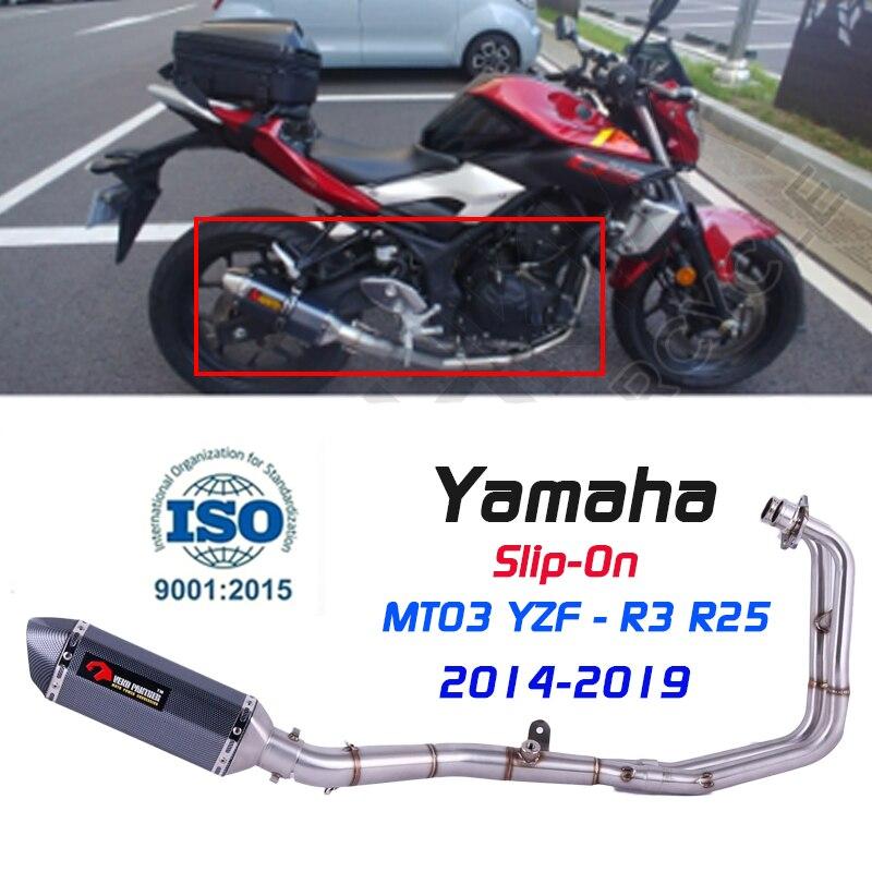 MT-03 MT03 silenciador de Escape para motocicleta tubo medio tubo de conexión...