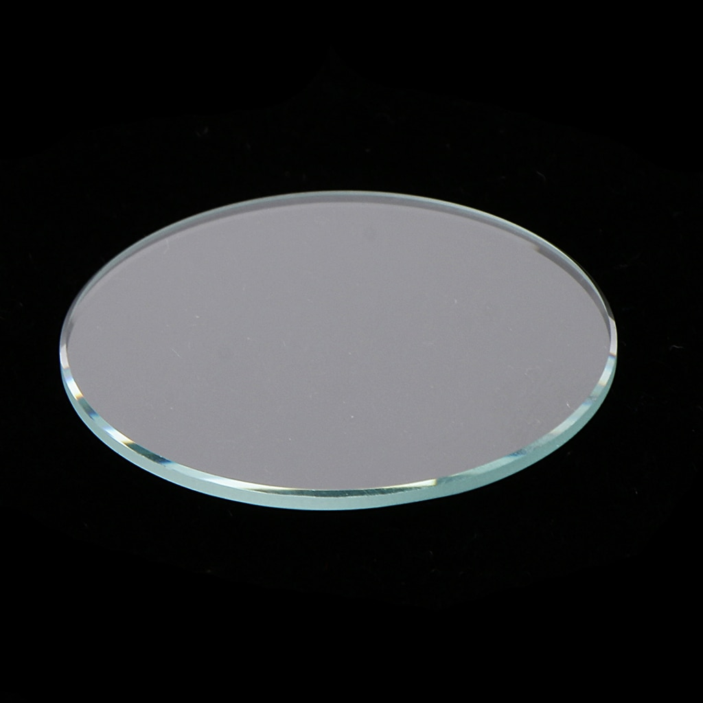 10pcs 28mm-38mm Flat Watch Crystal Mineral Glass Replacement Part 1mm Thick