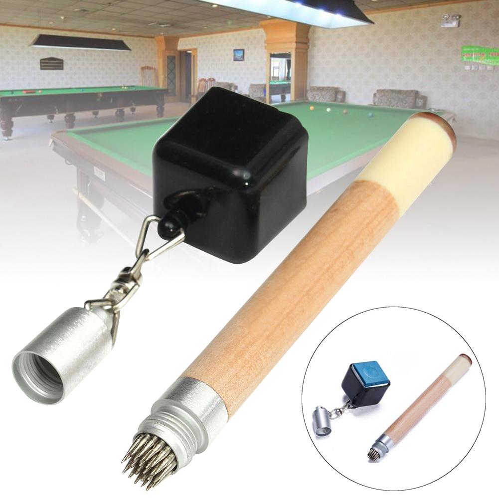 2 in 1 Chalk Holder Magnetic Stick Billiard Snooker Pool Cue Tip Pricker Tool 19cm ASD88
