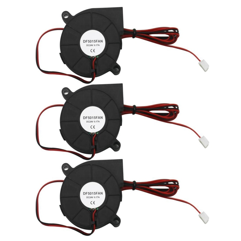 3 Pcs 5015 Small Fan 3D Printer Accessories Cooling Silent Fan DC24V