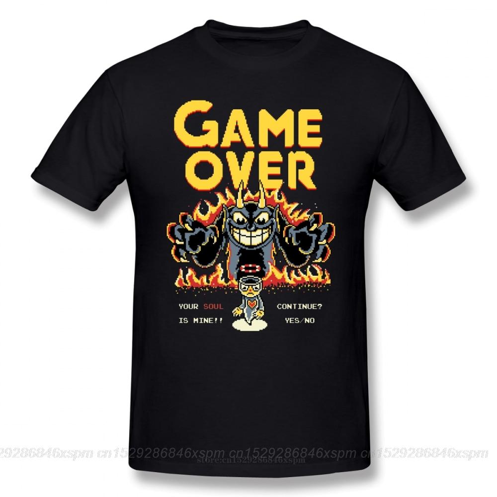 Camiseta one yona Cuphead, camiseta de Your Soul Is Mine, camiseta de playa 6xl, divertida camiseta estampada 100 algodón, camiseta de mangas cortas para hombre