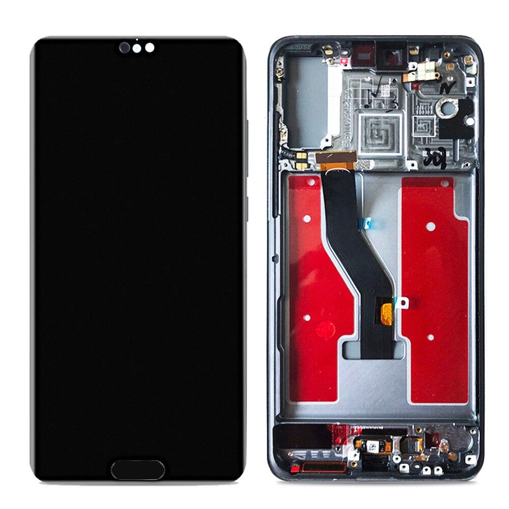 "Aaa + qualidade 6.1 ""display lcd para huawei p20 pro display lcd tela de toque painel vidro digitador assembléia com quadro 2160x1080"