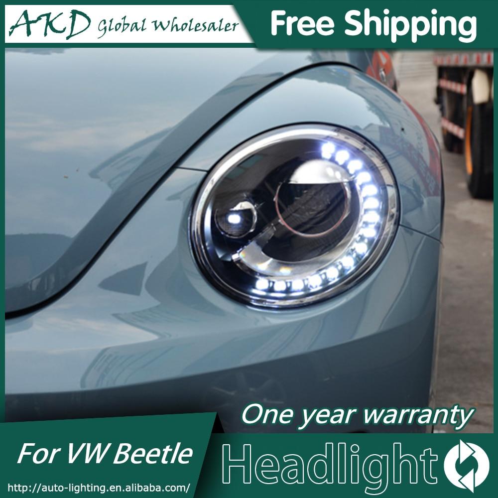 Akd Auto Styling Koplamp Montage Voor 2013-2018 Vw Beetle Koplampen Bi Xenon Led Koplamp Led Drl Hid Front lamp Accessoires