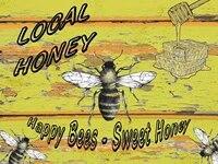 Plaque decorative murale Vintage  miel doux  abeille  Happy Nature  meilleure maison  Bar  Pub  cuisine  Restaurant