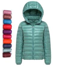 2019 nuevas chaquetas de plumón de pato ultraligero para mujer, abrigo de invierno con capucha, manga larga, chaqueta ajustada de talla grande para mujer, Parkas elegantes