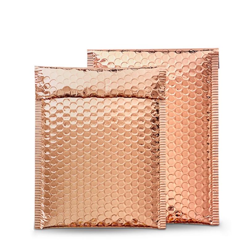 100Pcs New Bubble Mailer Orange Gold Bubble Bag Aluminum Foil Shipping Bags With Bubble Postal Padded Envelopes 18x23cm/23x29cm