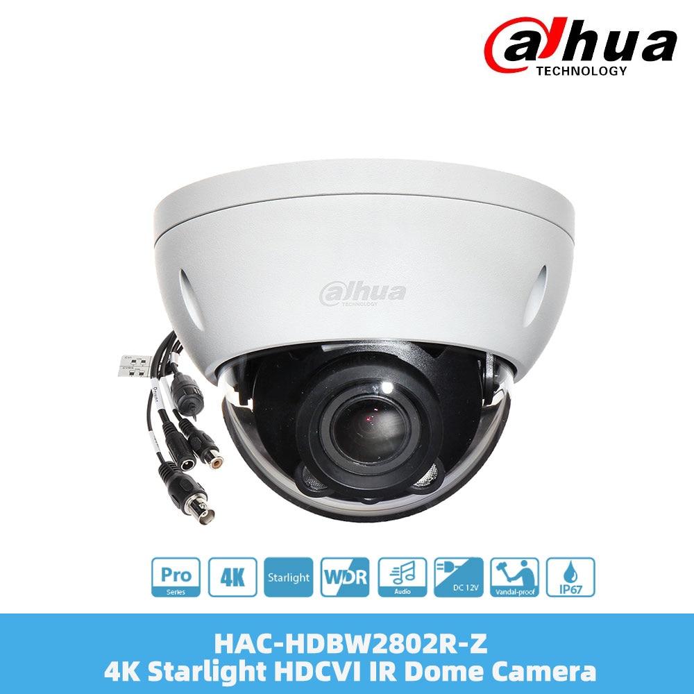 Review Dahua HAC-HDBW2802R-Z 4K Starlight HDCVI IR Dome Camera 1080P  3.7-11mm Motorized Lens Smart IR IP67 4K Resolution