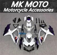 motorcycle fairings kit fit for gsxr600750 2008 2009 2010 bodywork set high quality abs injection new purple silvery white