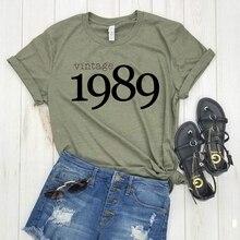 KPOP – chemises Vintage à manches courtes pour femmes, ample, grande taille, cadeau danniversaire, à la mode, 1989
