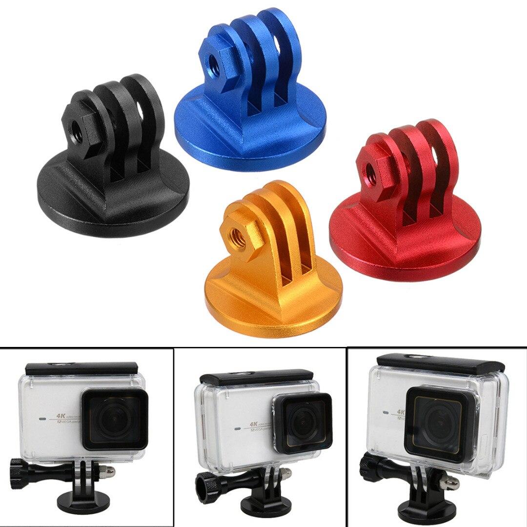 Mayitr 1pc CNC 4 Colors Aluminum Alloy Tripod Mount Lightweight Digital Camera Base Adapter For GoPro Camera
