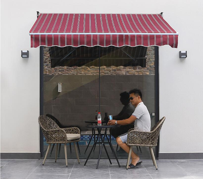 Outdoor sunshade retractable canopy aluminum alloy canopy folding tent balcony awning manual parking shed