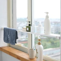 bathroom organizer retractable storage holder rack cabinets layered partition shelf kitchen holder bedroom telescopic rack