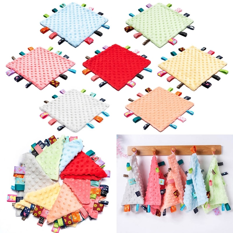 Baby Appease Towel Soft Soother Teether Infants Sensory Security Blanket Toys