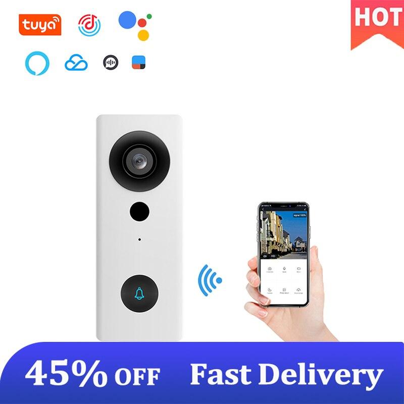 Tuya Video Doorbell WiFi 1080P HD Chime Smart Home Intercom Wireless Phone Call View Waterproof Secu