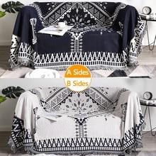 Tapisserie de canapé en tricot à carreaux   Couverture de canapé multifonctionnelle, couverture de canapé pour loisirs, climatisation, serviette de canapé