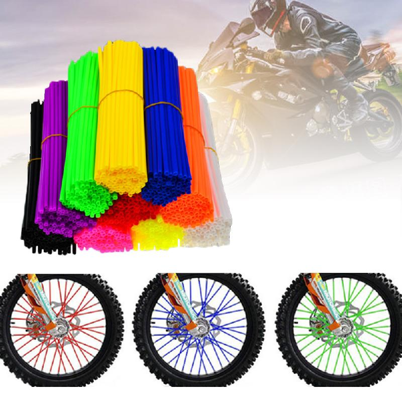 72 Pcs Motorcycle Accessories Universal Spoke Skins Covers 17 cm/6.7inch Dirt Bikes Wheel Decoration Protection Cover