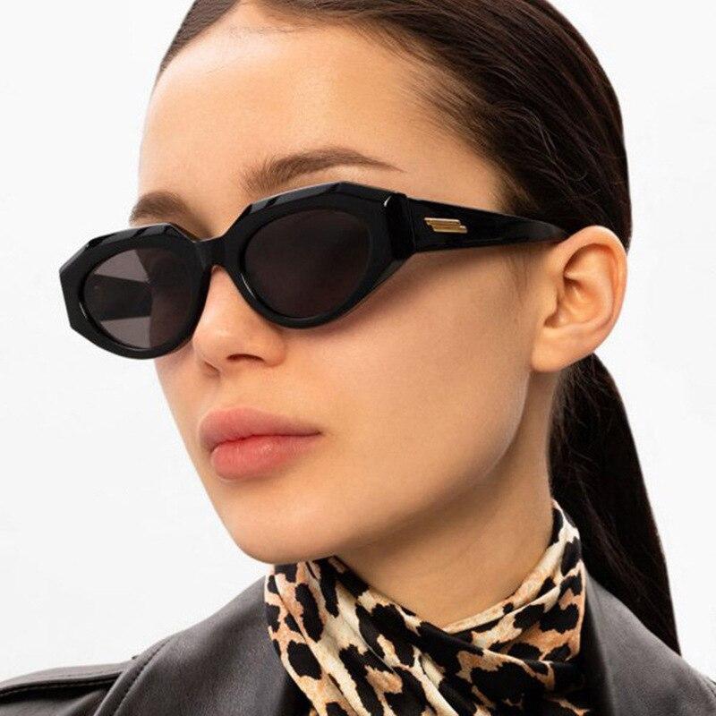 Солнцезащитные очки «кошачий глаз» женские, небольшие солнечные аксессуары в винтажном стиле ретро, с защитой UV400, 2021