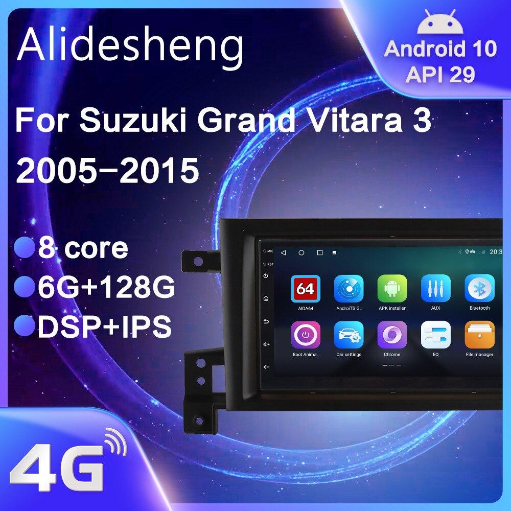 Автомобильная Мультимедийная система для Suzuki Grand Vitara, автомагнитола под управлением Android 2005, с функцией DSP, GPS Навигатором, IPS, типоразмер 2DIN, 10,0-2015
