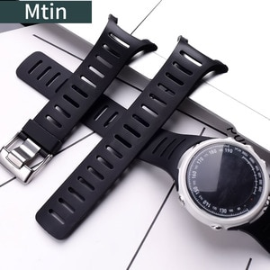 Rubber strap men's pin buckle watch accessories for Suunto T1 T1C T3 T3C T3D T4C T4D outdoor sports silicone strap Watch band