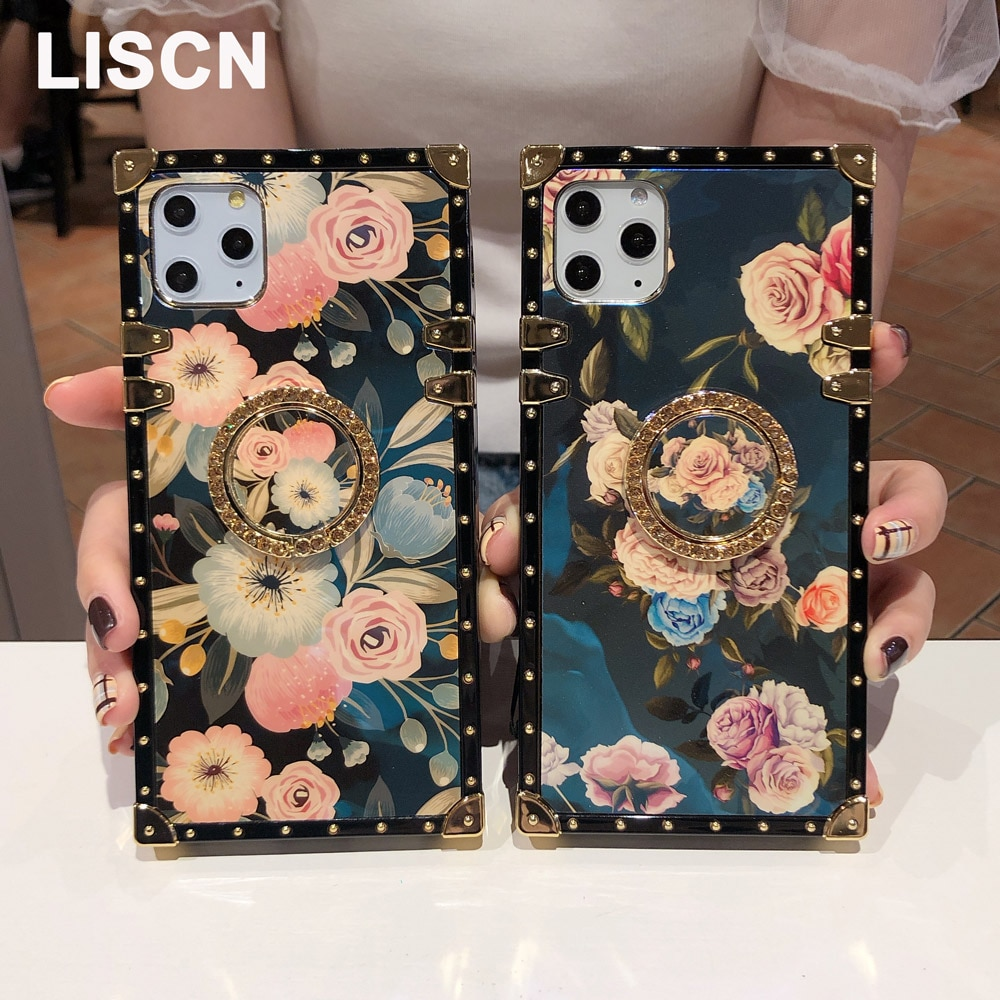 Funda cuadrada de teléfono con purpurina Rosa Blu-ray para Redmi Note 7 Pro Y3 7 K20 K20Pro, funda suave de TPU para Xiaomi mi 9 9t Pro 9tPro