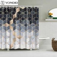 YOMDID     Rideau de douche motif marbre  geometrique  drap imprime  pour salle de bain  cadeau pour toilette