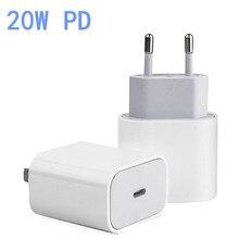 20W chargeur rapide Type C USB PD chargeur pour Samsung S20 iPhone 12 Pro 11 iPad Pro Huawei P30 lite QC3.0 adaptateur de Charge murale rapide