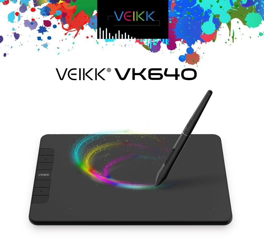 VEIKK VK640 6x4 بوصة المهنية OSU اللوحي الرسم الرقمي دفتر قطع الرسم القلم اللوحي مع بطارية خالية القلم 8192 مستويات
