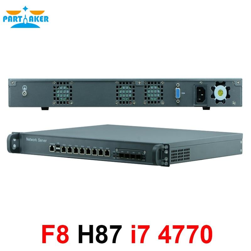 1u Firewall Netzwerk Appliance Hardware Mit 8 Ports Gigabit Lan 4 Spf Intel Core I7 4770 Mikrotik Pfsense Ros Network Appliance 1u Firewallfirewall Hardware Aliexpress