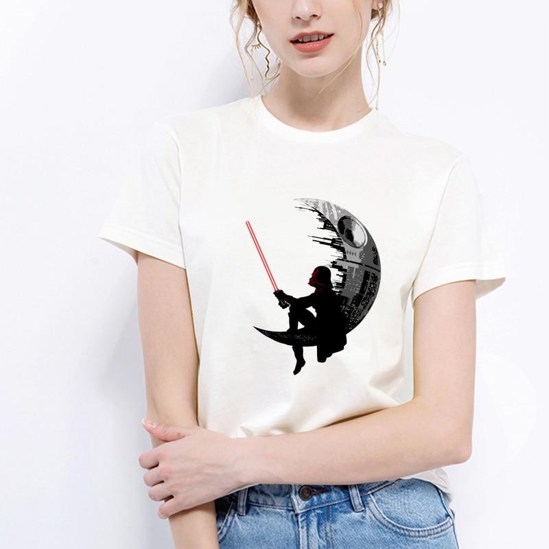 Lus Los T shirt Star Wars tee shirt women Good quality comfortable cotton shirt Hot sale cool Star Wars t-shirt women