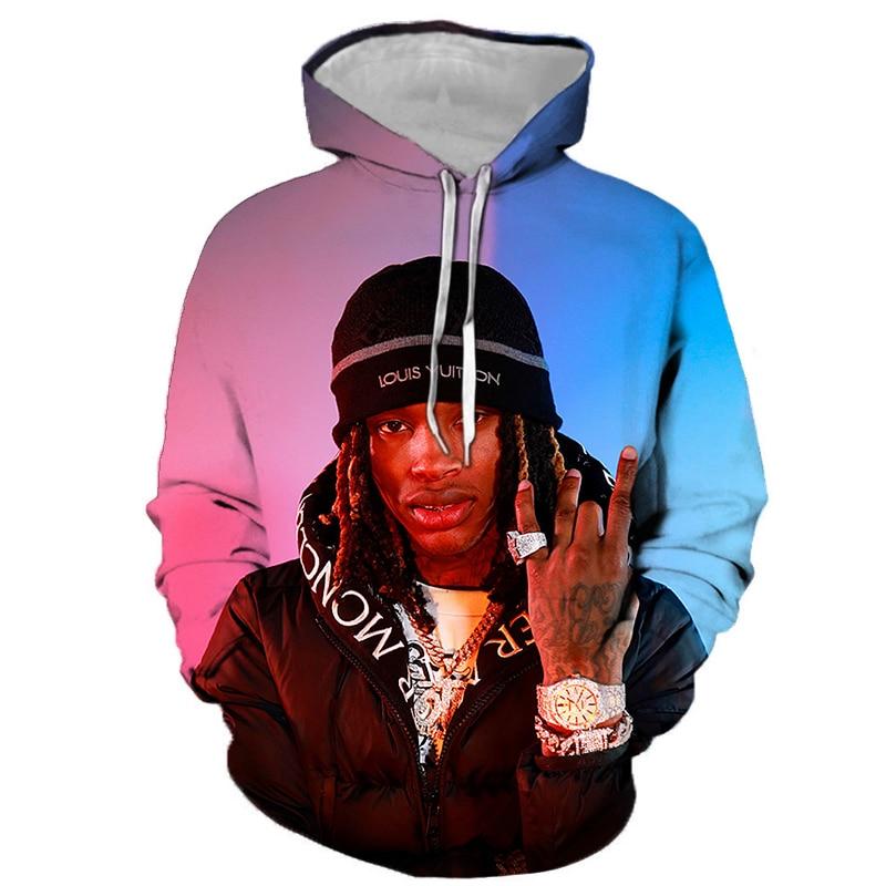 2021 new fall/winter print hoodie hip hop 3D print hooded men's and women's casual sweater full matching hoodie hooded 3d fireworks print flocking trippy hoodie