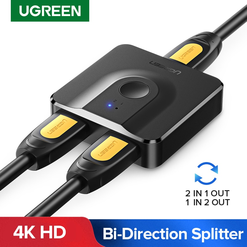 AliExpress - Ugreen HDMI Splitter 4K HDMI Switch for Xiaomi Mi Box Bi-Direction 1×2/2×1 Adapter HDMI Switcher 2 in 1 out for PS4 HDMI Switch