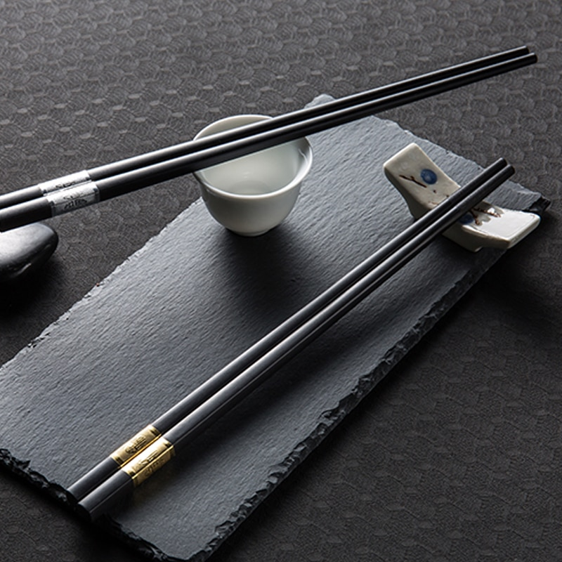 1 Pair Chinese Style Chopsticks Tableware Food Stick Alloy Catering Utensils Sushi Sticks Non Slip Household Kitchen Utensils Chopsticks Aliexpress