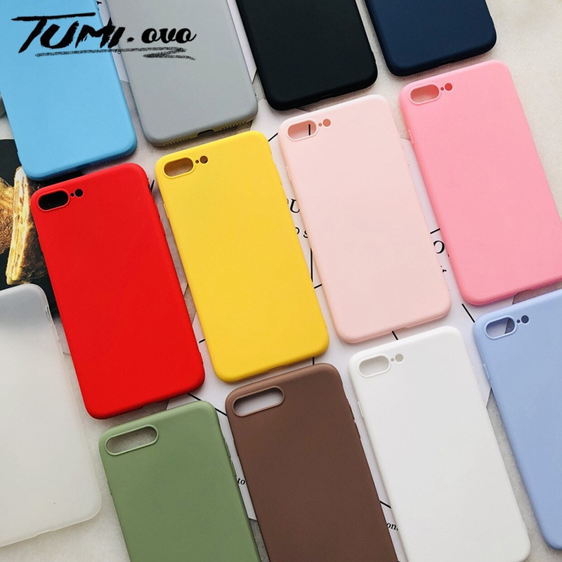 Nouvelle coque en silicone souple Candy pour Xiao mi rouge mi Note 8 8T 7 6 5 Plus 4 4X 8A 7A 6A 5A Prime K20 Pro mi Pocophone F1 couverture souple