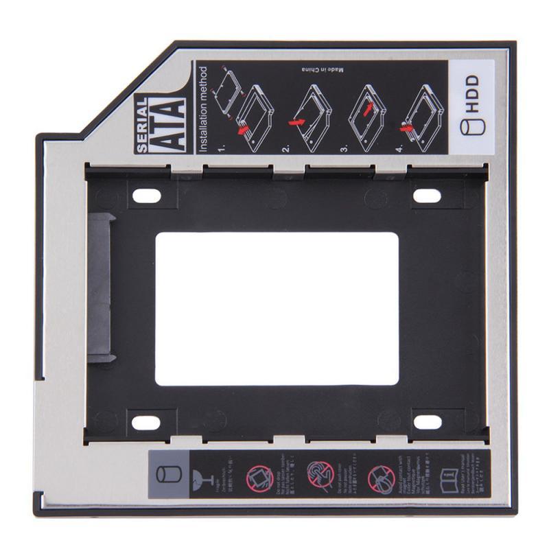 Disco Duro Hdd Caddy de 2 ° Segundo de aluminio de 9,5mm y 12,7mm SATA 9,5 Optibay 3,0 SSD, adaptador de caja de CD-ROM y DVD