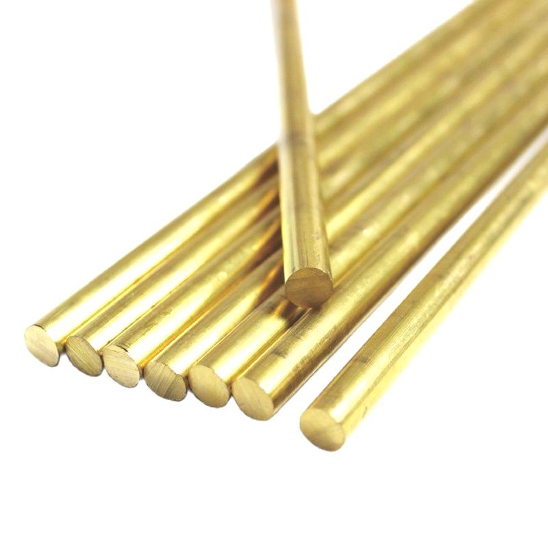 Diameter 2mm Brass Round Rod Bar Solid Lathe Cutting Tool Metal Rods metal rod grade 5 dia 1mm to 15mm tc4 titanium alloy round rod stick solid ti bar cutting tool metal supplies