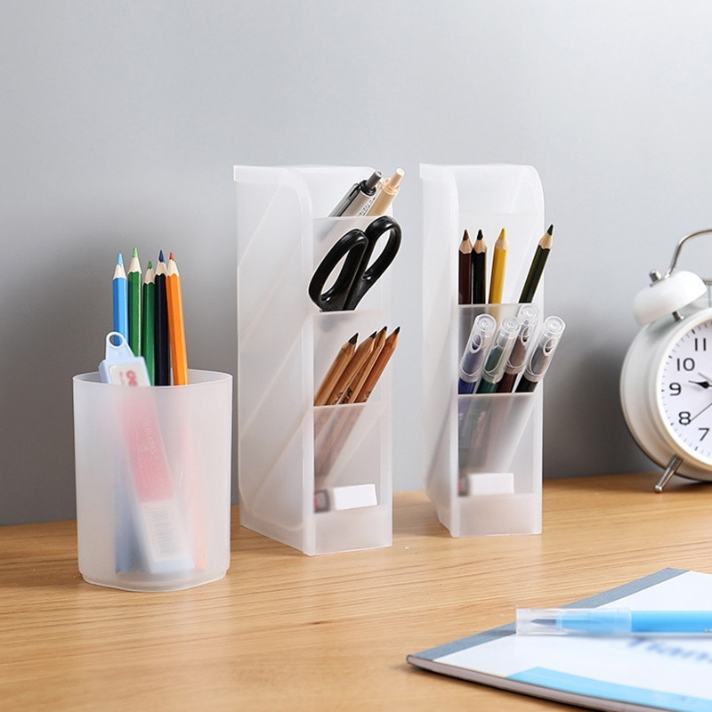 Рабочий стол с матовой поверхностью косой вставки Тип многофункциональный держатель для ручек косметическая коробка для хранения ювелирных изделий контейнер Органайзер