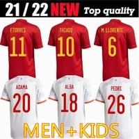 2021 spain mens jersey sweatshirt training suit kids soccer jersey suit