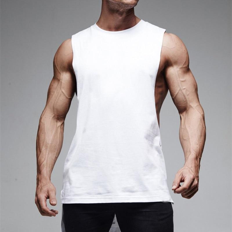 Camiseta sin mangas elástica transpirable de secado rápido con estampado de espalda y chaleco deportivo para hombre para Fitness SEC88