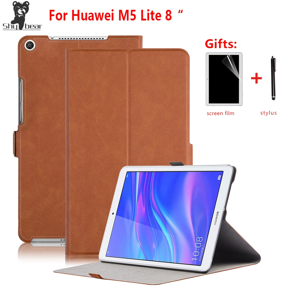 "Funda inteligente para Huawei Mediapad M5 LITE 8 ""funda para tablet de cuero PU para Huawei M5 Lite 8,0 JDN2-W09HN/AL00HN + regalos"