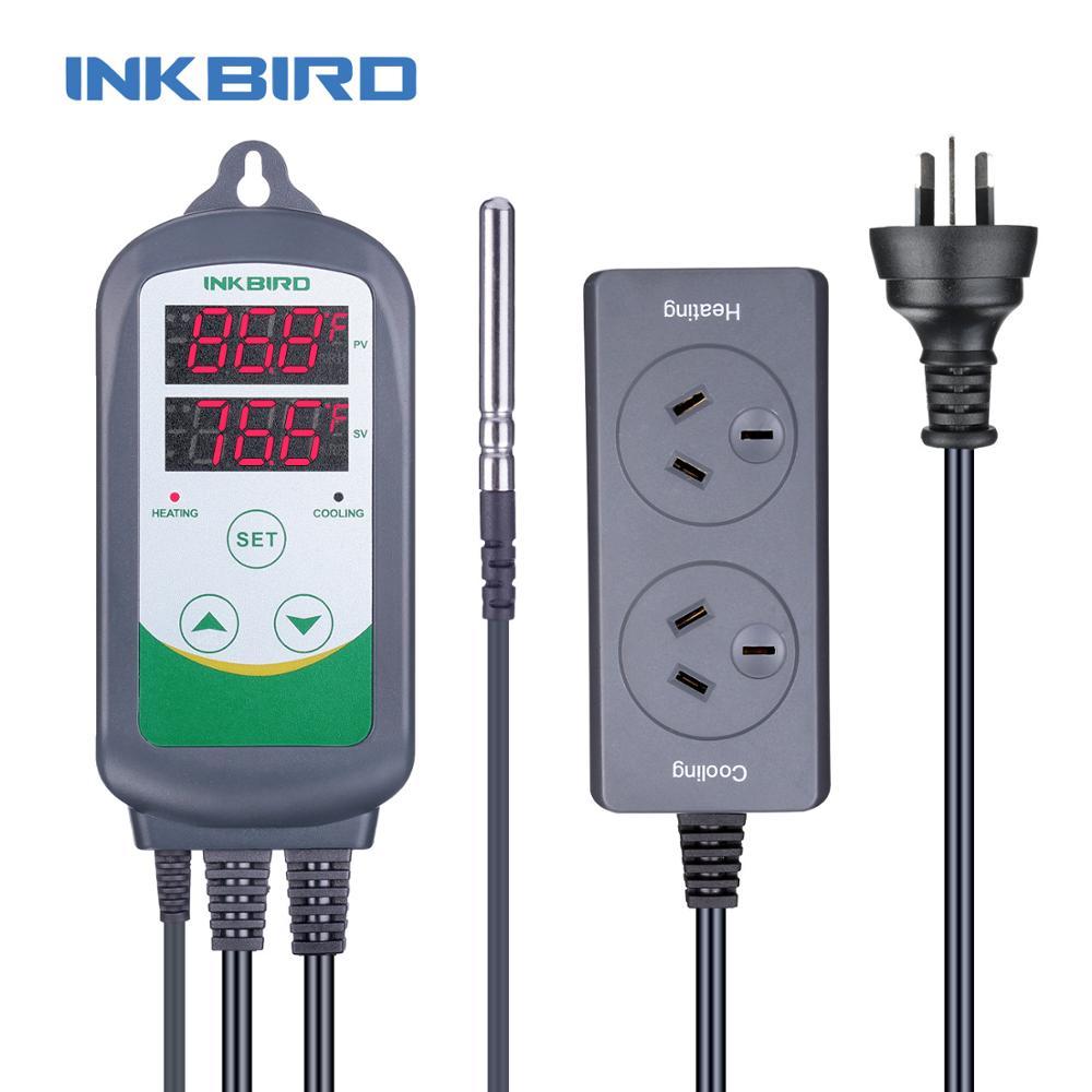 Inkbird ITC-308S termostato Digital controlador de temperatura AU Plug calefacción refrigeración Control instrumento para incubadora invernadero