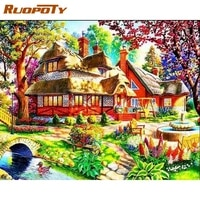 ruopoty diamond painting city landscape diamond embroidery scenery handicraft full square new arrival home decor