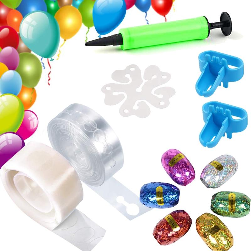 Ballon Arch Kit Ballon Girlande Kit Kleber Punkte Ballon String Luftpumpe Binden Werkzeug Geburtstag Hochzeit Weihnachten Party Dekorationen