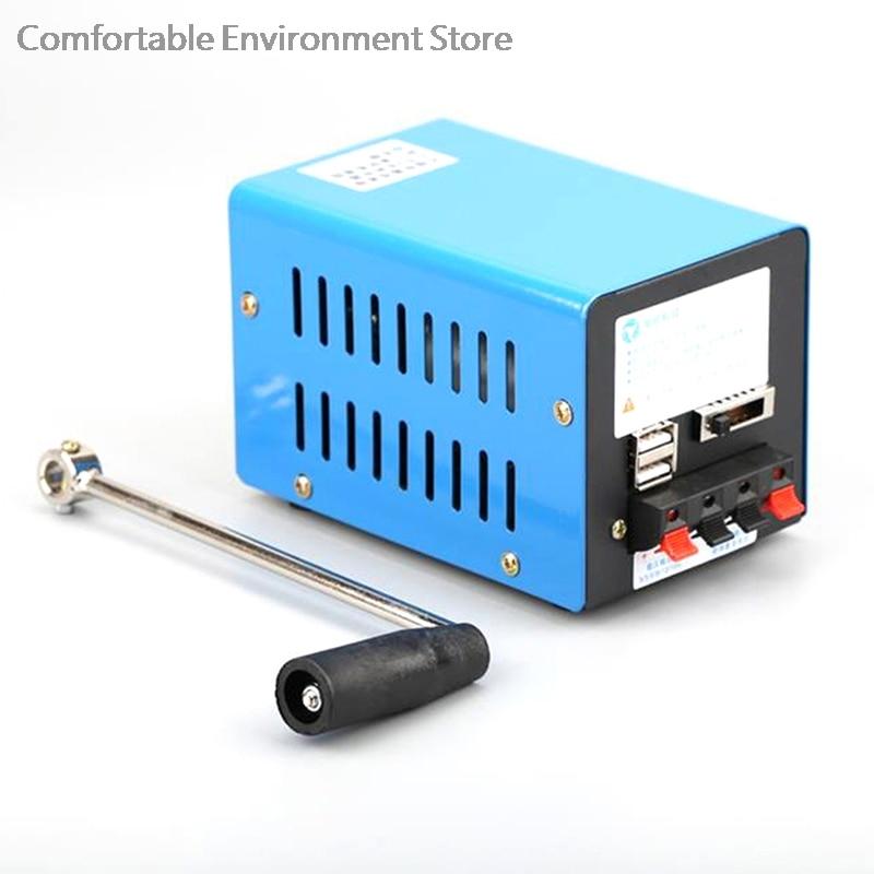 المحمولة عالية الطاقة دينامو شاحن الطوارئ كرنك اليد USB مولد
