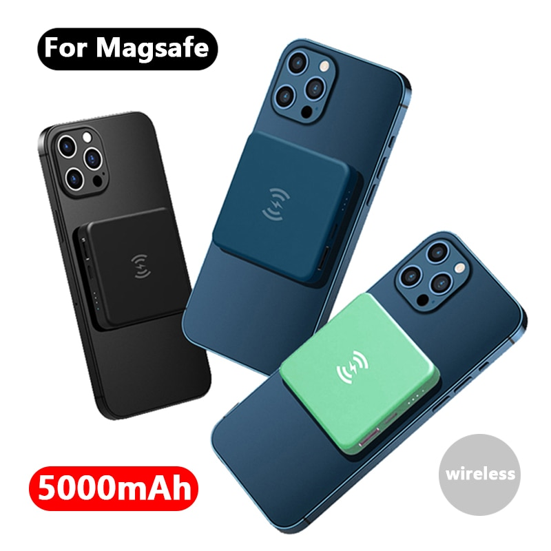 5000mAh Magnetic Wireless Power Bank Fast Charger For Magsafe Ultra-thin powerbank For iphone 12 12pro xiaomi External Battery