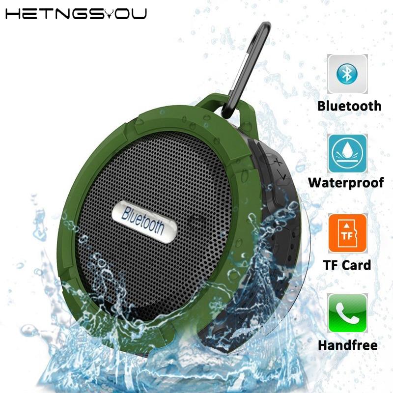 HETNGSYOU Altavoz Bluetooth динамик мини Портативные водонепроницаемые беспроводные динамики звуковая коробка с громкой связью TF карта для мобильного телефона