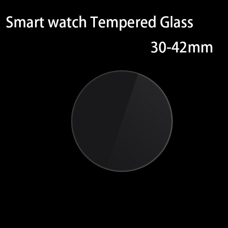 Vidrio Templado 9H Smart Wtach película protectora de vidrio redonda dimensión General Anti-shatter 0,3mm 2.5D