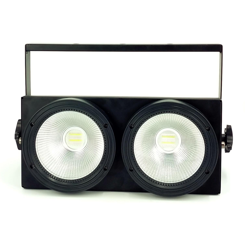 2x100 واط Led COB الاسمية أضواء 200 واط Led RGBWA UV 6IN1 دافئ الجمهور بليندر أضواء أبيض كول الأبيض Led ستروب غسل ديسكو إضاءات دي جي