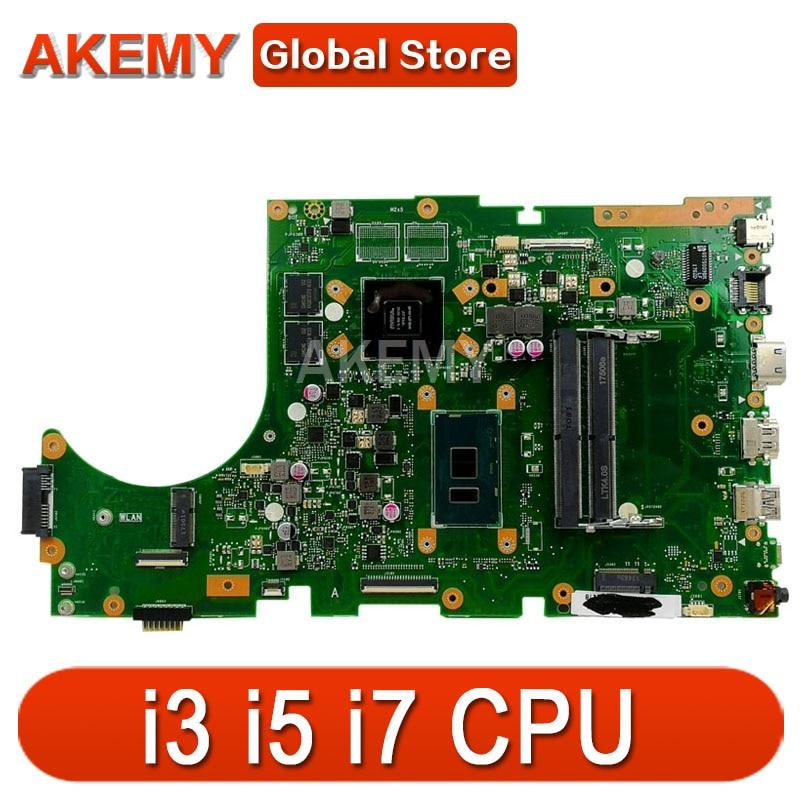 ل ASUS X756UW X756UQK X756UQ X756UR X756UWK X756UV X756UXM كمبيوتر محمول اللوحة اللوحة i3 i5 i7 CPU GT930MX/GT940MX DDR4